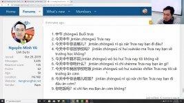 Học tiếng Trung theo chủ đề Về Nước học tiếng Trung Thầy Vũ